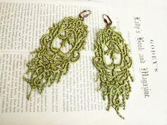 romantic lace earrings JULIANA green tinaevarenee on Etsy  #jewelry #lace #fashion #earrings
