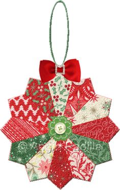 Christmas DIY: Dresden Plate Orname Dresden Plate Ornament - The traditional Dresden Plate block in a smaller size makes a great choice for an ornament. Use different complementary fabrics and sew up a whole slew in one short afternoon! Quilted Christmas Ornaments, Christmas Fabric, Handmade Christmas, Christmas Quilting, Dresden Plate Patterns, Dresden Plate Quilts, Christmas Sewing Projects, Christmas Crafts, Christmas Decorations