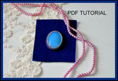 How to bezel cabochon TUTORIAL and how to cover back side of beadembroidery and make nice beaded edge TUTORIAL PDF by VEHA on Etsy Handmade Jewelry, Unique Jewelry, Handmade Gifts, Pdf, Shoulder Bag, Trending Outfits, Nice, Cover, How To Make