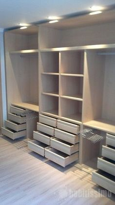 Ideas For Small Master Closet Organization Ideas Shelving Bedroom Closet Doors, Bedroom Closet Storage, Closet Drawers, Bedroom Cupboards, Small Closet Organization, Sliding Closet Doors, Wardrobe Closet, Organization Ideas, Diy Bedroom