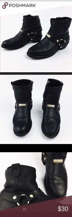 Black leather riding boots Re posh in good condition just a little small for me & Other Stories Shoes Combat & Moto Boots