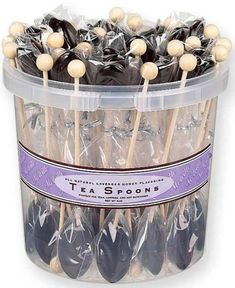 50 Lavender Honey Flavored Teaspoons are yummy tea party favors!