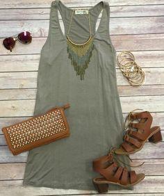 Come Awake Tunic Dress: Mocha