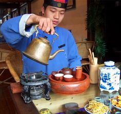 Drinking Oolong Tea in China