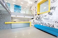 Office building - Bucharest by Point Zero & photo by Marius Grigore Modern Interiors, Bucharest, Mario, Interior Design, Architecture, Building, Inspiration, Ideas, Nest Design