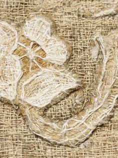 Artist Synnöve Dickhoff, Finland. White Rose (detail) Textile Artists, White Roses, Finland, Embroidery, Detail, Needlepoint, Drawn Thread, Needlework, Crewel Embroidery