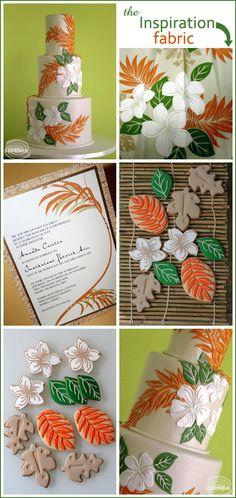 Tropical Wedding Cakes | Hawaiian Cake & Cookie Inspiration