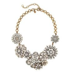 Vintage & Antique Jewelry Crew Rhinestone Flower Lattice Bib Statement Necklace **gorgeous** Orders Are Welcome. Spirited **rare** J