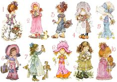 Find great deals on for sarah kay fabric and holly hobbie fabric. Mini Cross Stitch, Cross Stitch Charts, Cross Stitch Patterns, Holly Hobbie, Sarah Kay Imagenes, Sara Kay, Cross Stitch Tutorial, Stitch Doll, Decoupage Vintage