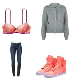"""""""😊"""" by melodyleighmitchell on Polyvore featuring Victoria's Secret, Frame Denim, Supra and Burberry"""
