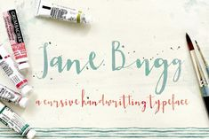 Jane Bugg Script by KlapauciusCo on @creativemarket