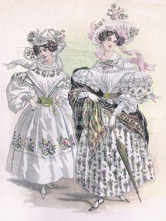 French Ladies Fashion 1830.