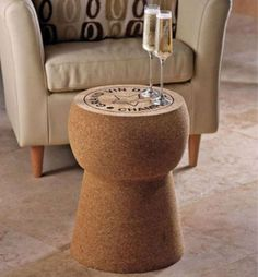 cork table
