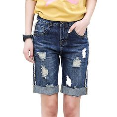 76595b862fdc6 Mid Waist Washed Denim Shorts Oversize Hot Denim Shorts For Women Plus Size  Feminino Big Plus Size Xxxl 3Xl 36 38 40 Xxxxl 7XL