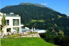 Badehus | Ferienhotel Fernblick Hotel in Bartholomäberg über Schruns, Montafon - Vorarlberg