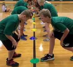 "My name is Mark Roucka and I am a PE teacher at Lincoln Junior High School in Naperville, IL. ""Head, Shoulders, Knees, Cone"" is an activity I have done numerous times with my classes and received a number of positive … Read Physical Activities For Toddlers, Gym Games For Kids, Physical Education Activities, Elementary Physical Education, Pe Activities, Exercise For Kids, Education Posters, Education Quotes, Health Education"
