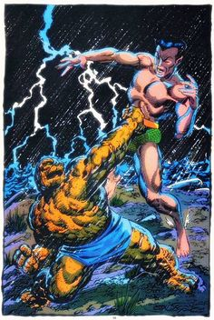 Namor vs Thing