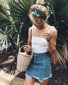 casual summer style outfit ideas women