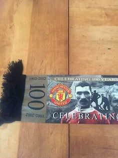 Manchester United 100 Year Anniversary Photo Scarf | eBay Manchester United Soccer, Anniversary Photos, Red Scarves, Jersey Shorts, Football Shirts, Selling On Ebay, Caps Hats, Black Nikes, The 100