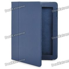 Color: Blue - Leather material - Designed specifically for New Ipad - Allows full access to all ports and buttons - Can be used as a holder stand - Provides full protection for your device http://j.mp/1lkmBWa