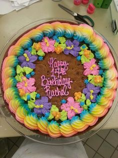 Birthday Flower Cookie Cake Giant Frosting