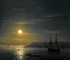 ''Veduta di Costantinopoli al chiaro di luna'' (1846) by Ivan Aivazovsky