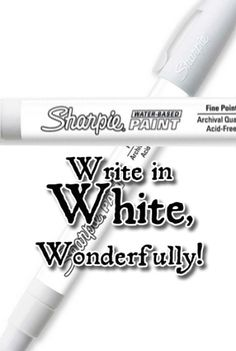 white How To Write Calligraphy, Calligraphy Tools, Calligraphy Writing, Ink Link, White Sharpie, Art Journal Techniques, Paint Pens, Altered Art, Art Supplies