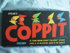 COPPIT: VINTAGE-BOARD-GAME - 1964 - COMPLETE - MADE-BY: SPEAR'S-GAMES