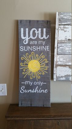 Sunshine Pallet Wall Decor You are my by TheWhiteBirchStudio