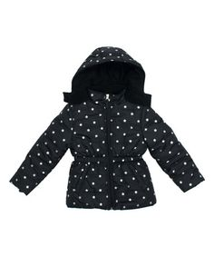 Look what I found on #zulily! Black Foil Star Puffer Jacket - Infant, Toddler…