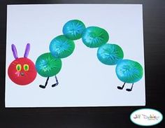 spring balloon painting Eric Carle The Very Hungry Caterpillar