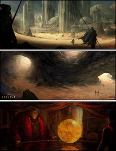 Dune speed painting by concept artist Mark Molnar.