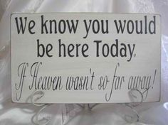 To honor those who have passed and couldn't make it to the big day I will have this at my wedding!! :)