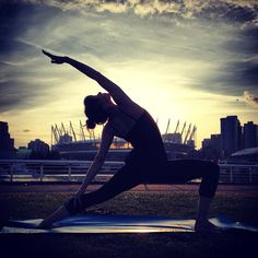 Yoga in the park beside Science World Photo by morgananana_