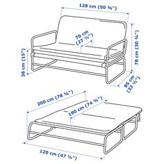 This sofa quickly and easily transforms into a spacious bed for two. A tense fabric makes it nice to sit and sleep on, and its lightweight - perfect when cleaning or rearranging furniture. Rearranging Furniture, Cool Furniture, Sleeper Sofa, Sofa Bed, Ikea Co, Cama Ikea, Convertible, Built In Sofa, Upcycling