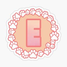 LETTER E PAW Stickers | Redbubble