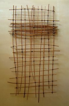 catherinewillis:    from my Paris studio  PARTITION  willow twigs, black cotton ligatures.2007  Private collection. California. U.S.A.