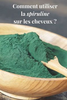 En masque, en ajout dans un shampoing ou en lotion, la spiruline nous offre de n… In mask, in addition to a shampoo or lotion, spirulina offers us many benefits for the hair! Discover all my tips. Curly Hair Styles, Natural Hair Styles, Natural Beauty, Lotion, Hair Growth Treatment, Hair Serum, Kinky Hair, Tips Belleza, Green Hair