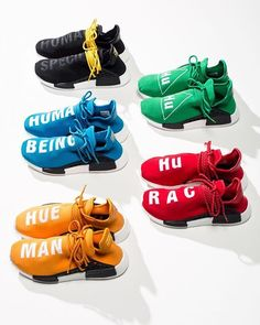 adidas x Pharrell Williams HU Race NMD // Available Thursday at Undefeated La Brea, Silverlake and San Francisco. Doors will be opening at for live raffle. Sneakers Shoes, Adidas Shoes, Men's Shoes, Shoe Boots, Vans, Adidas Nmds, Pharrell Williams, Human Race Shoes, Adidas Human Race