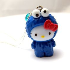 a hello kitty in cookie monster's clothing. HAHA :D