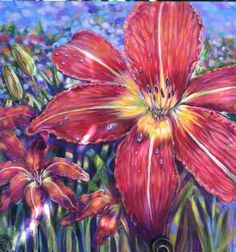 """Tiger Lily"" original acrylic painting"
