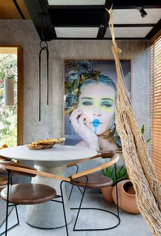 Loft 1 by Jessica Araujo. Nature is revered in the space signed by the architect who brings a good s Exterior Design, Interior And Exterior, Decor Interior Design, Interior Decorating, Dinner Room, Dining Room Design, Home Decor Furniture, Decoration, Interior Inspiration