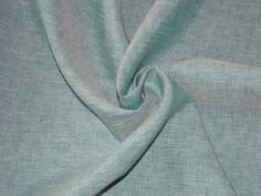 $21.99 Cross-woven Linen Fabric by the Yard - Teal/White