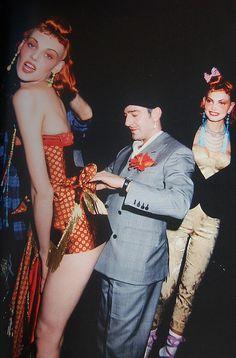 JOHN GALLIANO - BACKSTAGE  Christian Dior invierno 1997