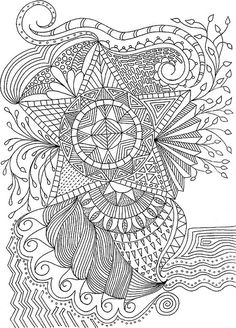 To print this free coloring page «coloriage-adulte-fleurs-etoile Coloring Pages For Grown Ups, Cool Coloring Pages, Printable Coloring Pages, Adult Coloring Pages, Coloring Sheets, Coloring Books, Doodle Coloring, Mandala Coloring, Doodles Zentangles