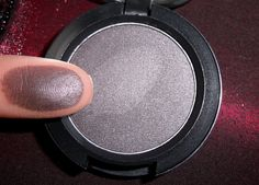 MAC Smut. Perfect for a smoky eye, and not as harsh as black. Also makes a great liner.