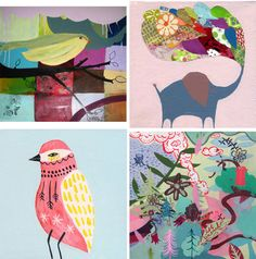 Colorful, quirky artwork