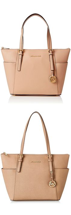 0ab886ceec44 MICHAEL Michael Kors Jet Set Top-Zip Tote – Most Styled Leather Tote The Top