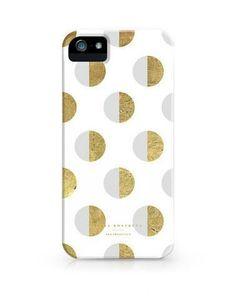 Half Moon Polka Dot White iPhone  Case / JULIA KOSTREVA