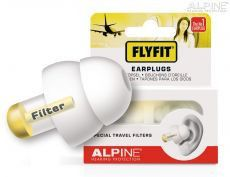 Alpine FlyFit oorplugs in cassette geel 212100 Hearing Protection, Sinus Infection, Ear Plugs, Water, Products, Travel, Relaxer, Corks, Gripe Water